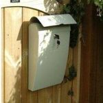 Cream Metal Post Box with Lock by Garden Trading