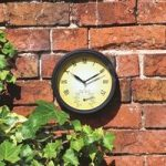 Garden Wall Clock & Thermometer by Kingfisher