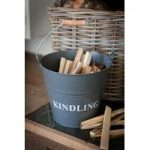 Kindling Wood Bucket – Charcoal by Garden Trading