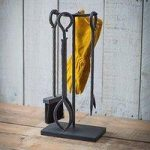 Wrought Iron Woodburner Fireside Accessory Set by Garden Trading