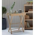 Hambledon Wooden Raw Oak Butlers Tray Side Tray by Garden Trading