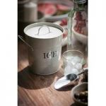 Metal Ice Bucket in Chalk White by Garden Trading