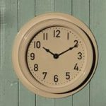 Outdoor Wall Clock in Clay by Garden Trading