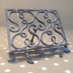 Cast Iron Cookbook Stand Recipe Holder – Grey by Fallen Fruits