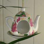 Vintage China Hanging Tea Pot Bird Feeder by Fallen Fruits