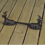Stag with Antlers Cast Iron Shoe Scraper by Fallen Fruits