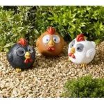 Bright Eye Happy Hens Lights Pack of 3 (Solar) by Smart Garden