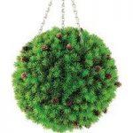Cypress & Pine Cone Artificial Topiary Ball by Gardman