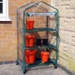 3 Tier Mini Greenhouse with Wheels by Kingfisher