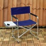 Directors Chair With Folding Side Table by Kingfisher