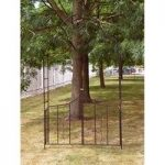 Metal Garden Arch with Gate by Kingfisher