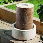 Sandstone Column Outdoor Water Feature (Mains) by Gardman