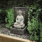Tranquil Budda Outdoor Water Feature (Mains) by Gardman