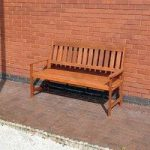 Wooden 3 Seater Garden Bench by Kingfisher