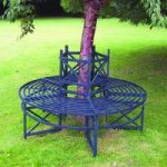 Circular Metal Tree Bench by Selections