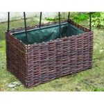 Large Bean Planter Wicker Surround by Selections
