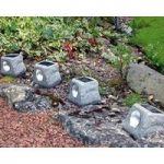 Rock Lights Pack of 4 (Solar) by Kingfisher