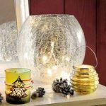 20 LED Crackle Glass Bowl with String Lights (Battery) by Gardman