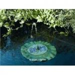 Floating Lily Shaped Water Fountain Water Feature (Solar) by Smart Solar
