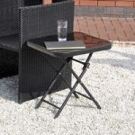Folding Drinks Side Garden Patio Table by Kingfisgher