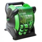 Compact Garden Hose Reel Set (15m) by Kingfisher
