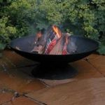 Black Cast Iron Fire Bowl by Fallen Fruits