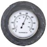 Round Slate Thermometer by Fallen Fruits