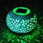 Colour Changing Ceramic Light (Solar) by Kingfisher