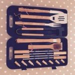 Bamboo Handled 18 Piece Barbecue Tool Set by Landmann
