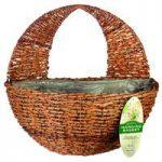 Rustic Rattan Garden Wall Basket Planter by Gardman