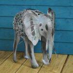 Silhouette Elephant Light Garden Sculpture (Solar) by Smart Garden