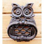 Owl Design Cast Iron Door Knocker by Fallen Fruits