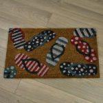 Newquay Flip Flop Design Coir Doormat by Gardman