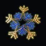 Kingfisher 66cm Flashing Snowflake Outdoor Christmas Light