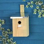 Bird Nest Box with Interior Viewing Mirror by Fallen Fruits