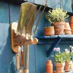 Wooden Garden Tool Hanger by Fallen Fruits