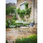 4 Seater Metal Garden Bistro Set in Clay by Garden Trading