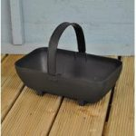 Plastic Trug Shaped Planter in Black by Garland