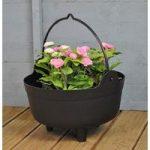 Large Plastic Cauldron Shaped Planter by Garland