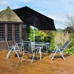 Delux Metal and Textoline 8 Piece 6 Seat Garden Furniture Set by Kingfisher