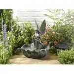 Resin Fairy Fountain Outdoor Water Feature (Solar) by Smart Solar