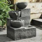 3 Tier Granite Effect Cascading Bowls Outdoor Water Feature (Mains) by Gardman