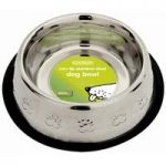 Non Tip Stainless Steel Dog Bowl – Small (22cm)