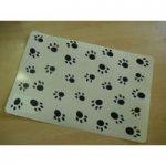 Paw Print Dog Bowl Mat by Gardman