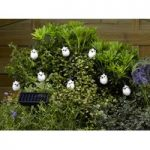 16 LED White Snowy Owl String Lights (Solar) by Smart Solar