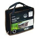 4 Seater Rectangular Patio Set Cover (Premium) in Black by Gardman