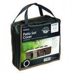8 Seater Rectangular Patio Set Cover (Premium) in Black by Gardman