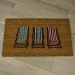 Three Deckchairs Design Coir Doormat by Gardman
