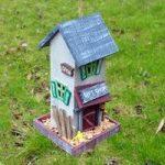 Wooden Bird Care Gift Shop Novelty Bird Feeder by Kingfisher