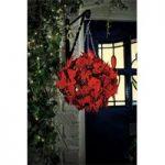 Poinsettia Artificial Topiary Ball by Gardman